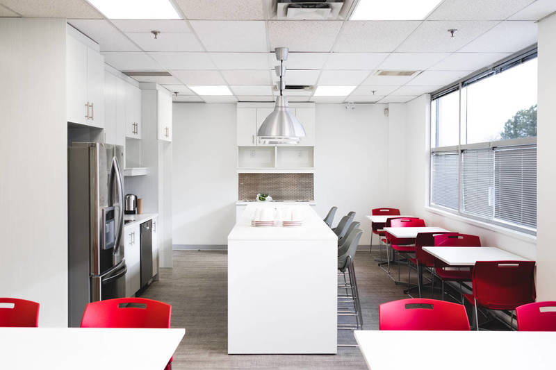 Bright office kitchen&lunchroom area
