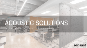 Sensyst Acoustic Office Solutions